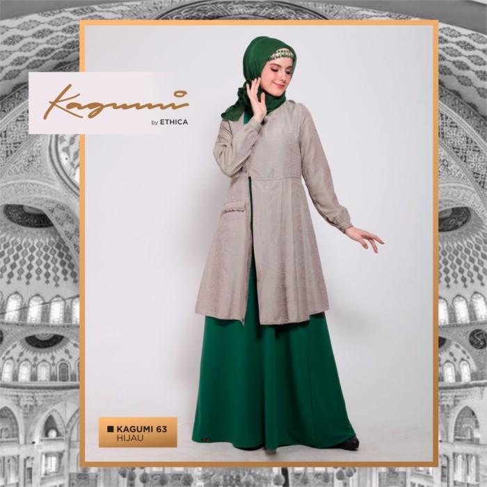 70 Model Baju Busana Muslim Wanita Terbaru Dan Terpopuler 2018. Jual Baju  Gamis Wanita Modern Busana Muslim Warna Hijau Ethica a8318c6267