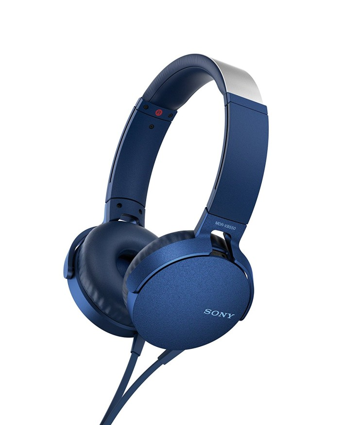 harga Sony extra bass headphone mdr-xb550ap - biru Tokopedia.com