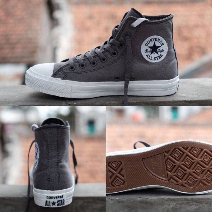 Jual Sepatu Converse Chuck Taylor 2 High Drak Grey Premium Made In ... b4abbc791