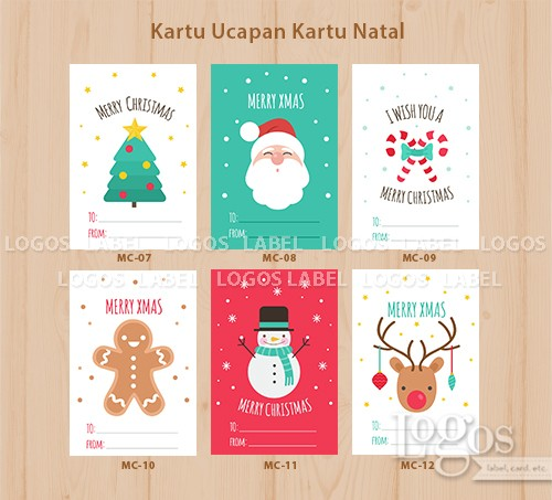 Jual Christmas Card Xmas Greeting Kartu Ucapan Selamat Natal Tahun Baru Kab Tangerang Logos Tokopedia