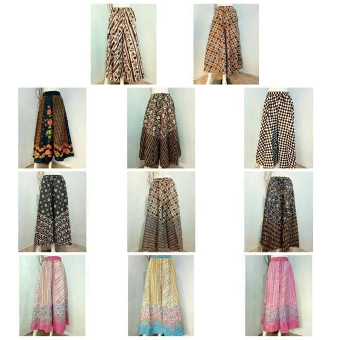 ... panjang wanita jumbo long pant Reny. Source · Stelan Blouse Etnik dan (Celana Rok) Kulot Batik Murah Diskon