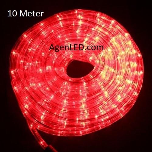 harga Lampu led selang / rope light / lampu dekorasi 10m (10 meter) merah Tokopedia.com