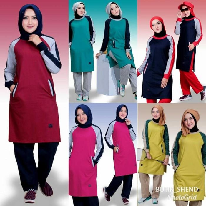 Update Harga Setelan Baju Olahraga Wanita Muslim Believe BMS 07 Di ... d7821ac3bc