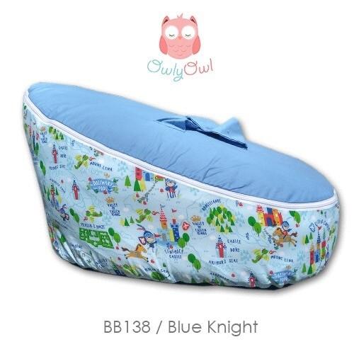 BABY BEANBAG BEAN BAG MOTIF BLUE KNIGHT - KASUR BAYI SOFA BIRU BLUE