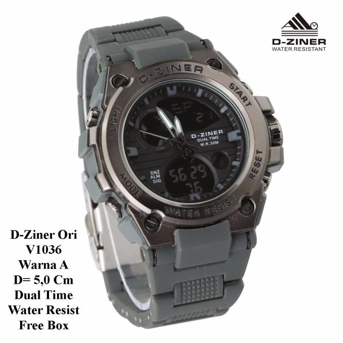 Harga D Ziner D 63h20 Dual Time Jam Tangan Wanita Rubber Strap Biru Source · Jam Tangan Pria Super Murah D Ziner Original V1036