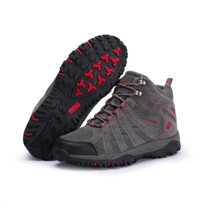 harga Sepatu gunung snta 476 grey red - semi waterproof Tokopedia.com
