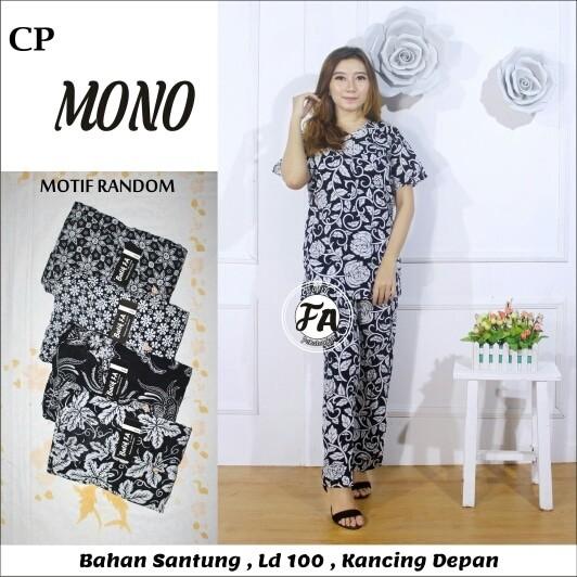harga Setelan celana panjang lengan panjang monochrome busui baju batik Tokopedia.com