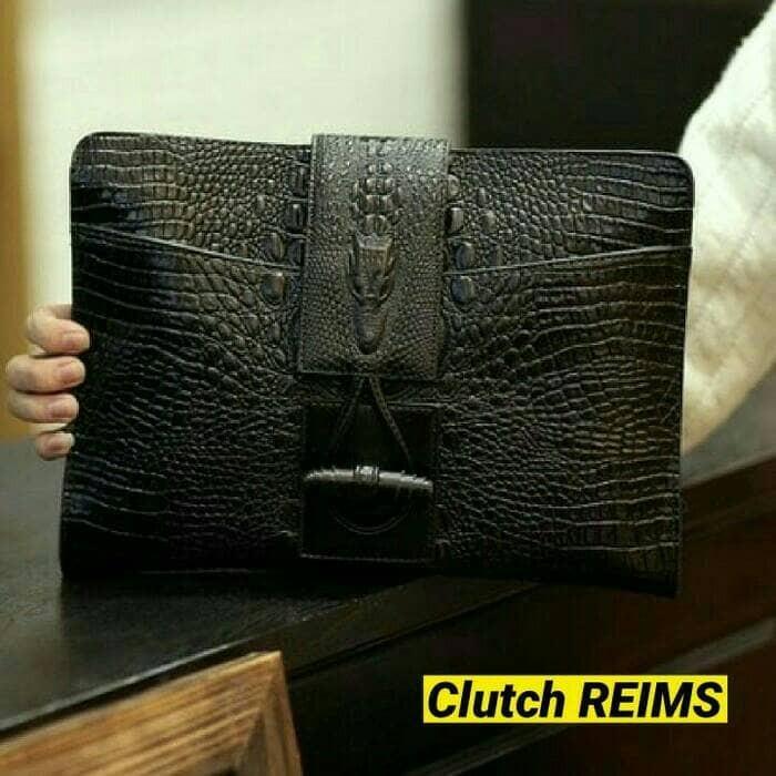 harga Clutch impor kulit buaya-tas tangan pria kerja kantor-tas selempang Tokopedia.com