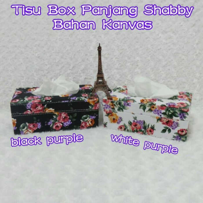 harga Tempat cover kotak box tissue tisu tissu tisue shabby bunga ungu putih Tokopedia.com