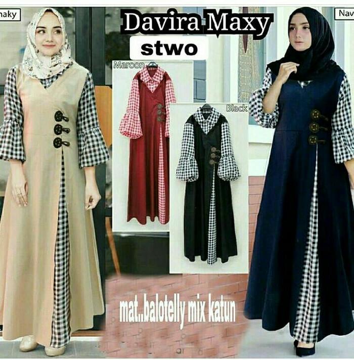 Jual Gamis katun   Dress murah   Baju muslim wanita   Hijab   Davira ... 598b1c81a4