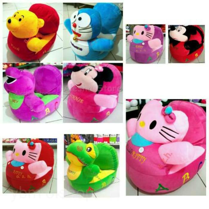 Sofa Odong Boneka Mickey Minnie Hello Kitty Doraemon Keropi Pooh murah -  Merah a0fad6cd6d