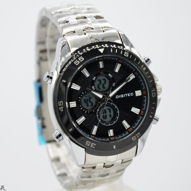 Digitec 3046 Dual Time Rantai Silver. Category : Fashion Pria Jam Tangan .