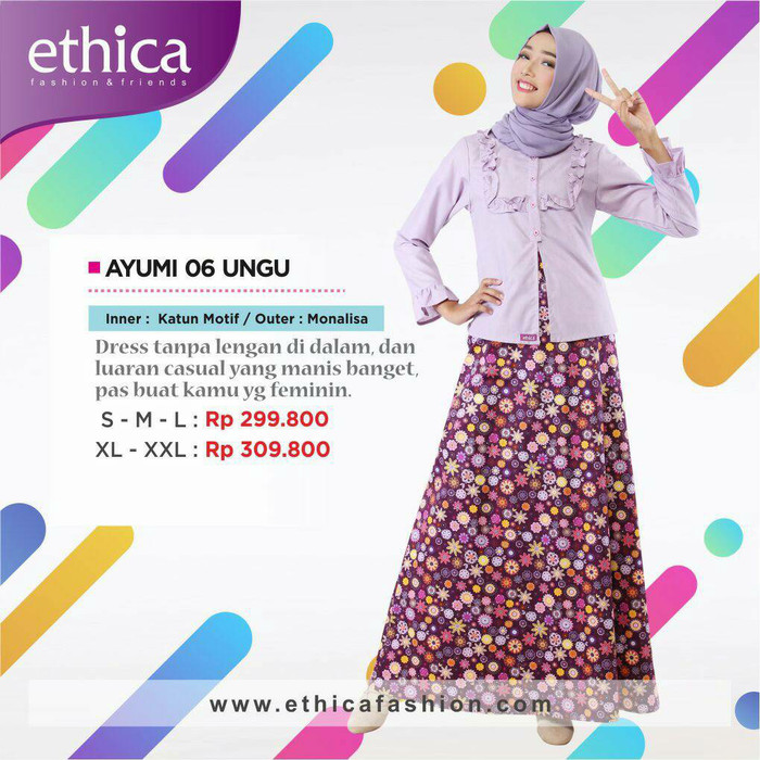 Jual Gamis Ethica Ayumi 06 Hafsya Collection Tokopedia