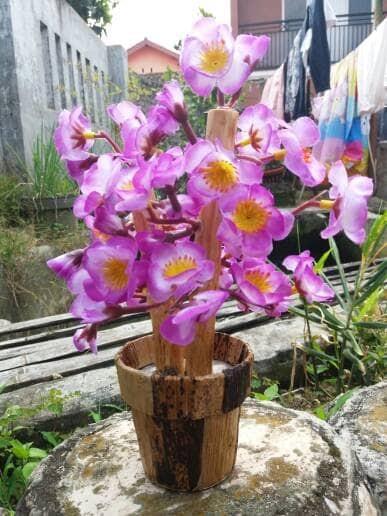 harga Bunga hias plastik sakura shabby ungu grosir murah Tokopedia.com