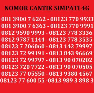 Kartu Perdana Nomor Cantik Telkomsel Simpati AS Indosat XL Axis .