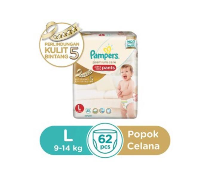 harga Pampers premium care active baby pants l62 Tokopedia.com