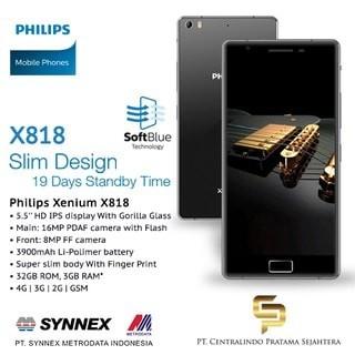 harga Philips smartphone x818 - lcd 55inch gorilla glass - ram 3gb/rom 32gb Tokopedia.com
