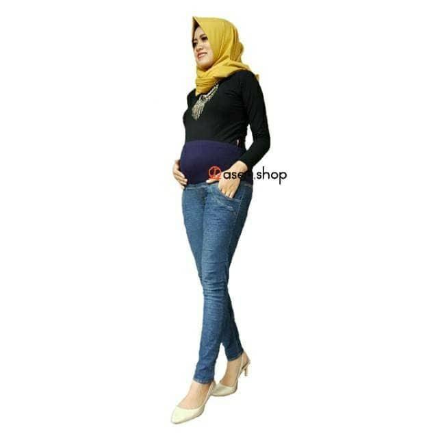 harga Jeans materna jeans ibu hamil celana hamil jeans Tokopedia.com