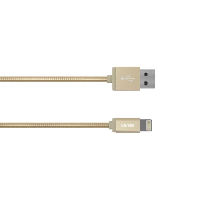 Jual Kanex Premium Duraflex (Tm) Lightning Chargesync Cable – 1.2 M. Gold Harga Promo Terbaru