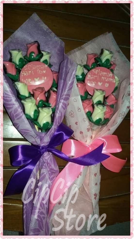 Jual Coklat Ucapan Buket Bunga Hari Ibu Kab Bekasi Aibee Hampers Tokopedia