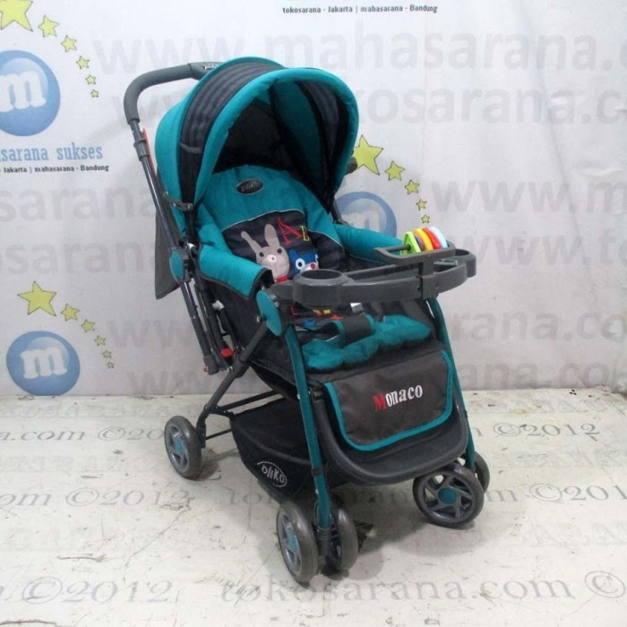 harga Pliko pk288 monaco standard 3 posisi baby stroller green Tokopedia.com