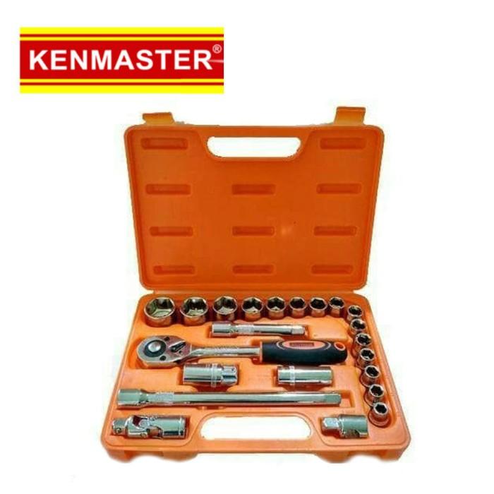 Foto Produk Kenmaster Kunci Sok Set 22 Pcs Premium Professional Socket Wrench dari Palugada Distribusi