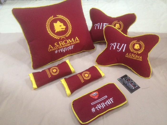harga Bantal mobil as roma/romanisti/romanisty/bantal sandaran/bola Tokopedia.com