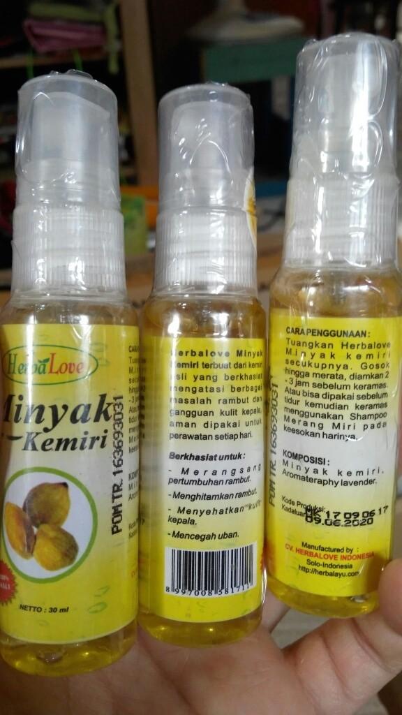 harga Minyak kemiri herbalove 30ml Tokopedia.com
