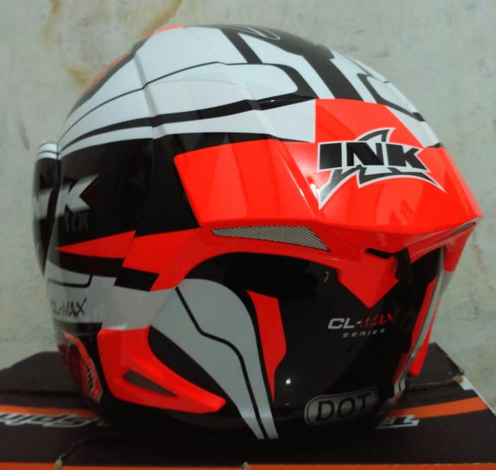 Helm INK CL Max Seri 5 Red Fluo