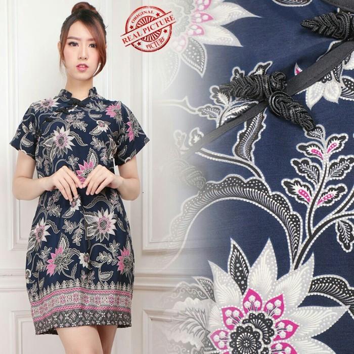 harga Meidy dress cheongsam pendek bahan katun batik silk fit to xl Tokopedia.com