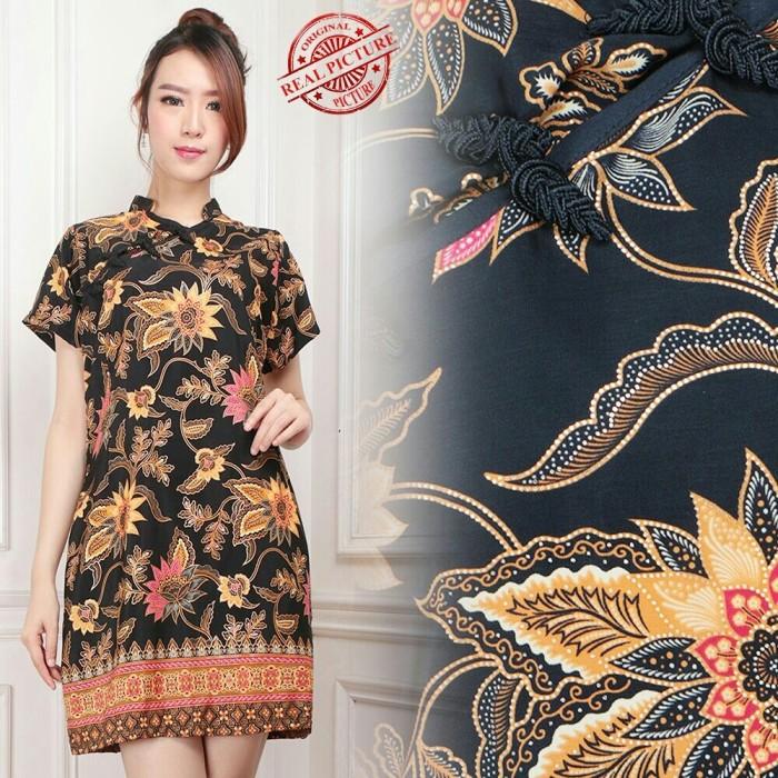 harga Meili dress cheongsam pendek bahan katun batik silk fit to xl Tokopedia.com