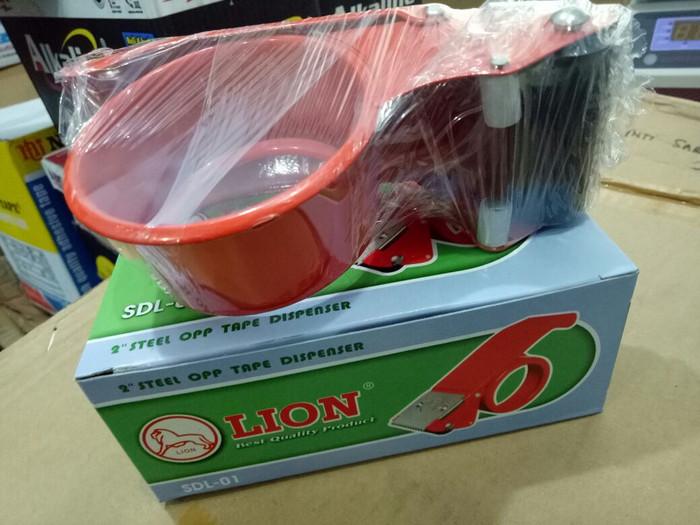 harga Lion tape dispenser 2 inch sdl-01 | pemotong lakban 2 inch Tokopedia.com