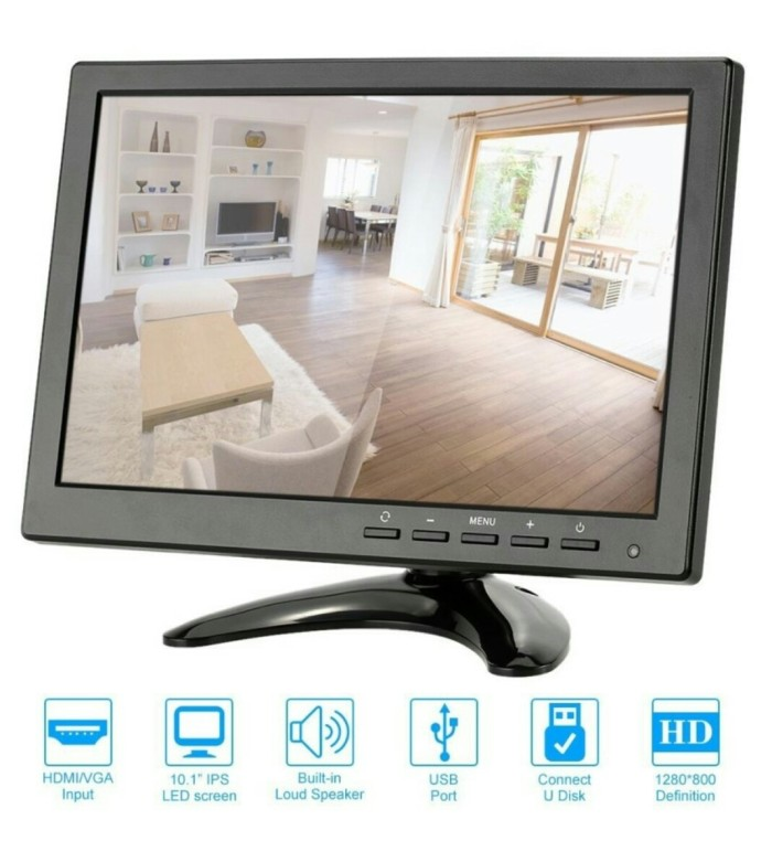 harga Mini led monitor 10 inch (input : hdmi vga bnc rca) Tokopedia.com