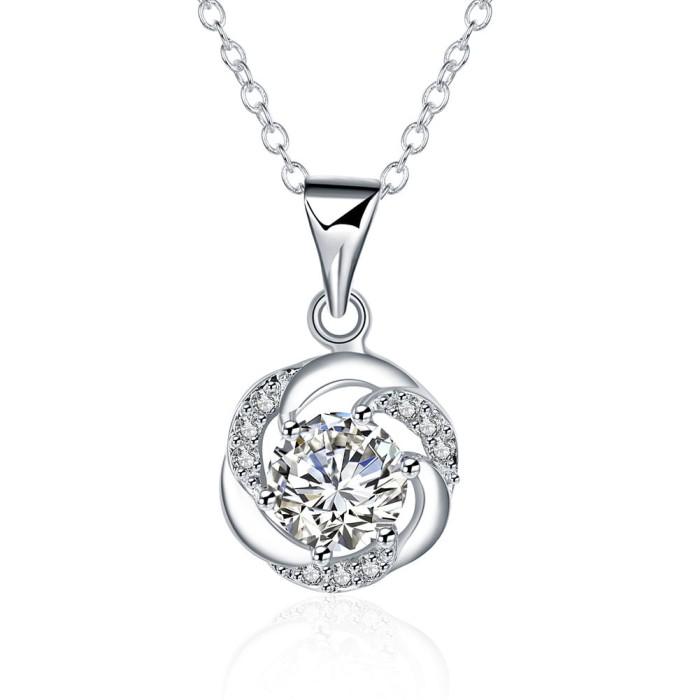 Tiaria lady necklace lknspcn471 aksesoris kalung lapis silver