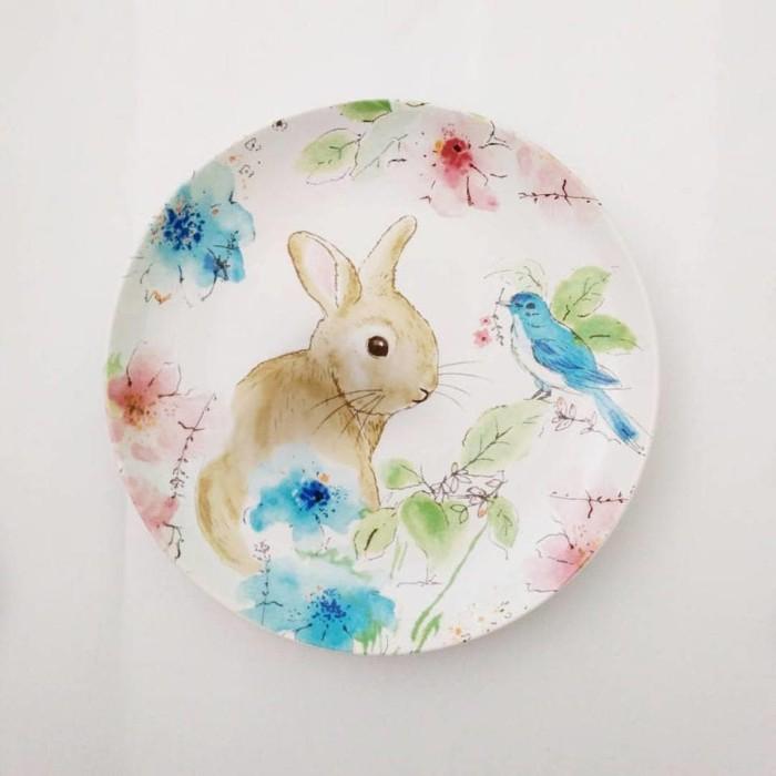harga Piring makan / hias sango motif pastel rabbit Tokopedia.com
