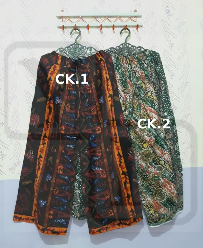 Celana kulot panjang wanita batik katun murah