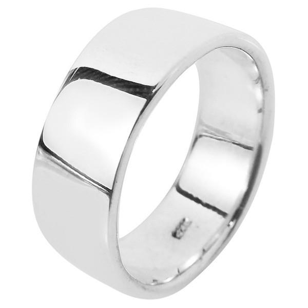Cincin Perak 925 Pria Simple Polos Lapis Rhodium APP01