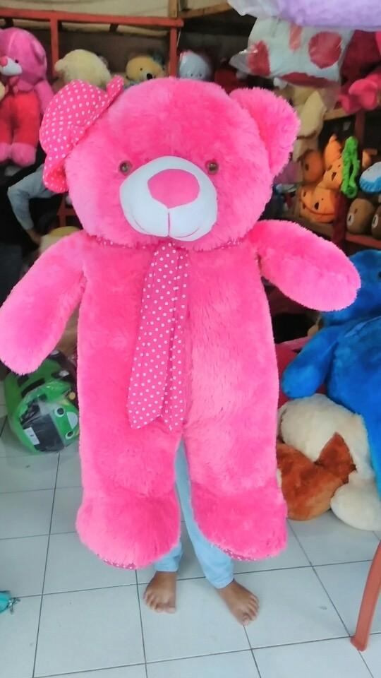 Jual boneka teddy bear topi syal giant cek harga di PriceArea.com aae0375e7b