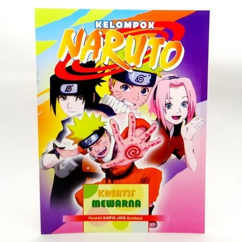 Jual Buku Mewarnai Gambar Naruto Pusaka Dunia Tokopedia