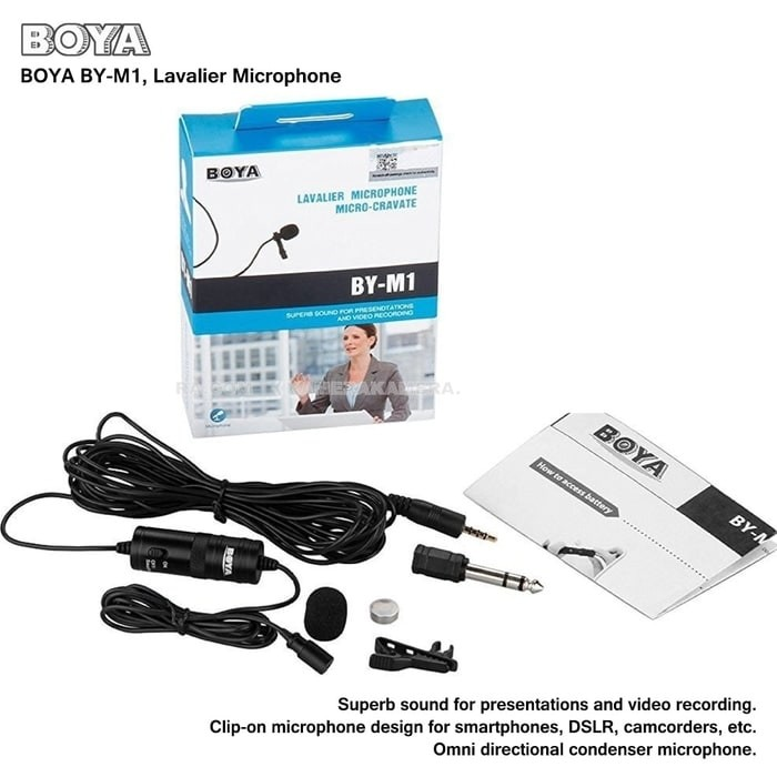 BOYA BY-M1 Clip-On Lavalier Micropho