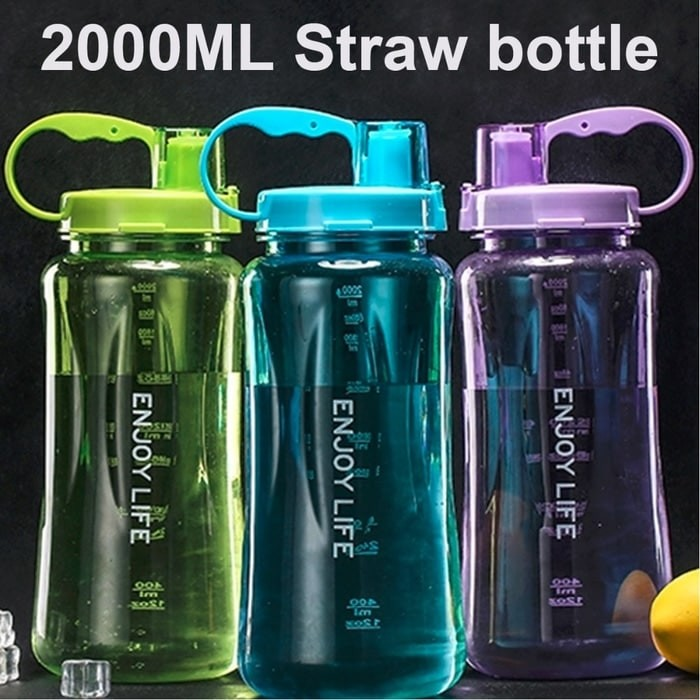 Jual Botol Minum ENJOY LIFE 2 Liter - Straw Water Bottle ...
