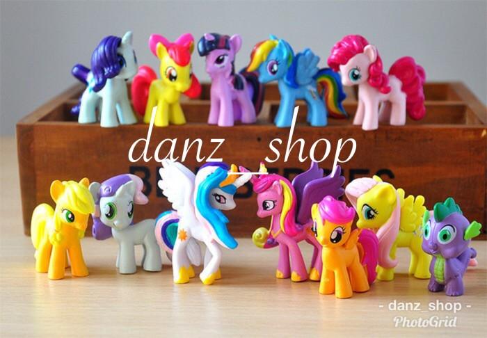 Foto Produk Mainan My Little Pony Set isi 12 Pc - Cake Topper Kuda Pony dari danz_shop