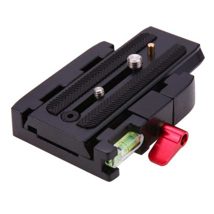 harga Quick release plate clamp adapter tripod p200 for manfrotto aluminium Tokopedia.com