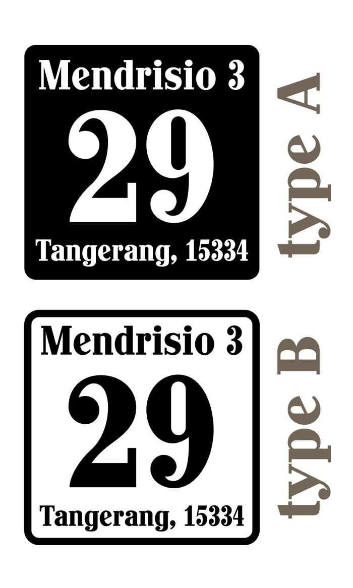 harga Sticker custom cutting nomor rumah, ruko, kantor, toko, jalan kode pos Tokopedia.com