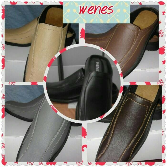 harga Sepatu sandal sendal pria cowo selop murah resmi pantofel hitam coklat Tokopedia .