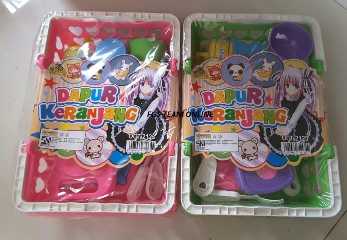 Mainan anak dapur keranjang masak masakan/mainan jual jualan anak anak