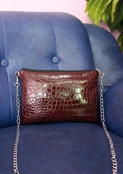 harga Sling bag buaya coklat | tas selempang wanita | tas kulit sintetis Tokopedia.com