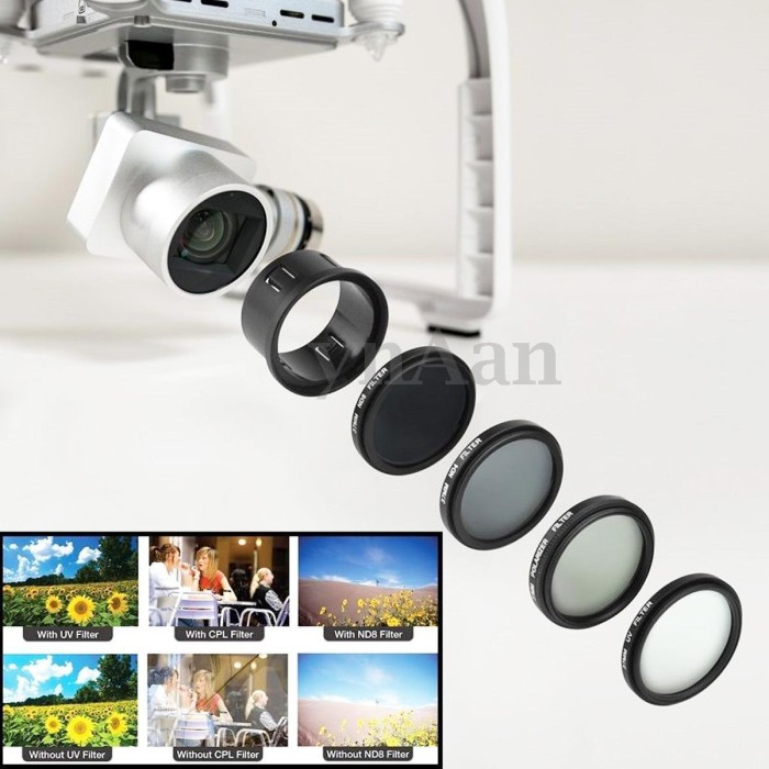 harga 8in1 polarizer cpl nd8 nd16 uv lens filter set dji phantom 3 phantom 4 Tokopedia.com