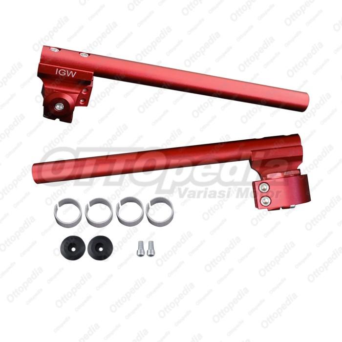 Stang - Stir - Setang Jepit - Clip On Multi Modish Satria Fu Merah