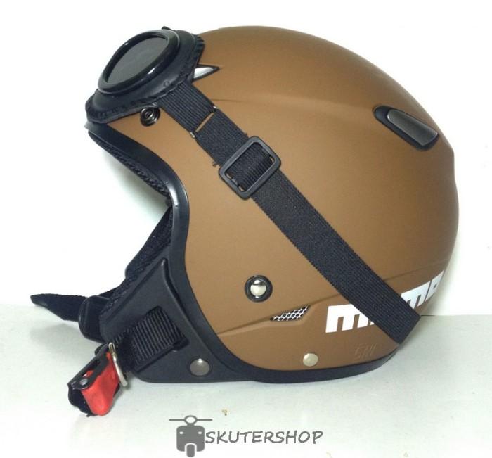 harga Helm retro pilot klasik jpn momo brown doff + kacamata Tokopedia.com